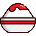 cold, dessert, fast, food, ice cream, shaved ice, sweets icon