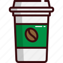 coffee, food, fast, hot, beverage, hot coffee, starbucks icon