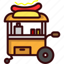fast, food, hot dog, sausage, stand, street, street food icon