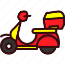 delivery, fast, food, pizza, scooter, service icon