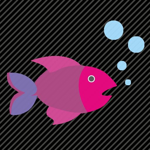 aquarium, breath, fish icon