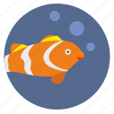 air, aquarium, breath, decorative, fish icon