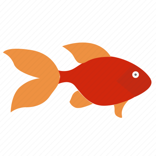 aquarium, decorative, fish, red icon