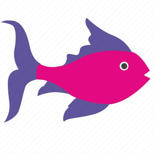 fingerling, fish, pink, underwater icon