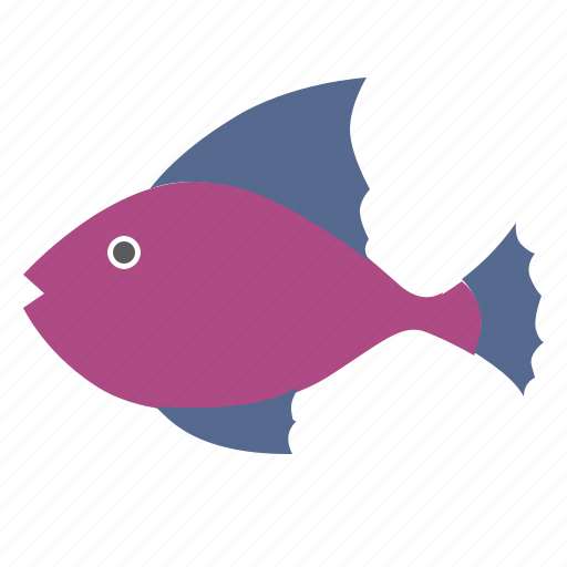 decorative, fingerling, fish, pink icon