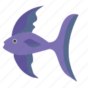 fingerling, fish, underwater, wide icon