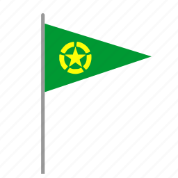 army, flag, poi, pointer, signal, star icon