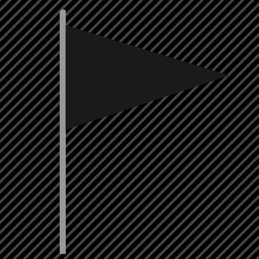 dark, dead, flag, poi, pointer icon