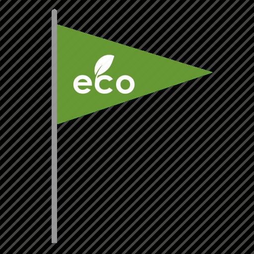 eco, ecology, flag, poi, pointer icon