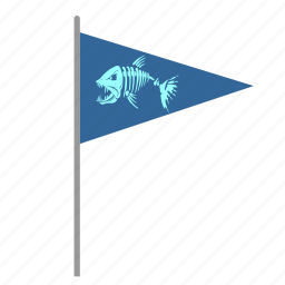 dead, fish, flag, pointer icon