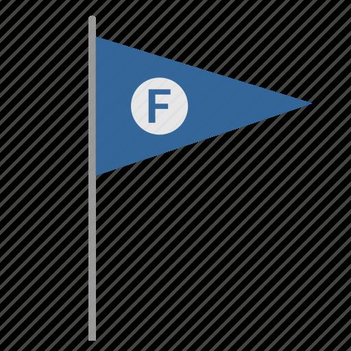 f, finish, flag, poi, pointer, race, signal icon