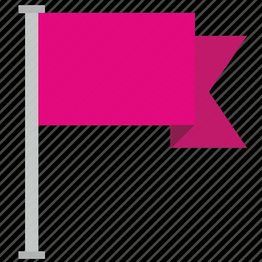 flag, location, pink, poi, point icon