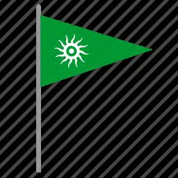 flag, poi, pointer, shiva, worship icon