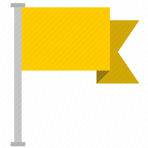 flag, location, poi, point, yellow icon