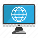 computer, desktop, internet, monitor, screen