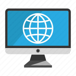 computer, desktop, internet, monitor, screen icon