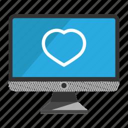 computer, desktop, favorite, monitor, screen icon