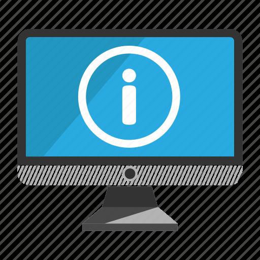 computer, desktop, information, monitor, screen icon