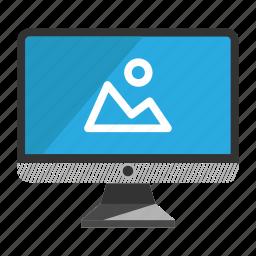 computer, desktop, image, monitor, screen icon