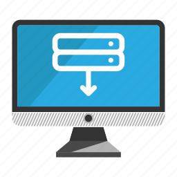 computer, desktop, download, monitor, screen icon
