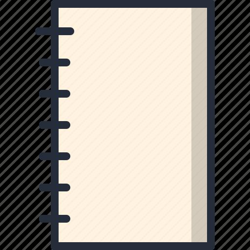 agenda, book, copyboard, paper, text, write icon