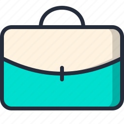briefcase, businessman, document, handbag icon