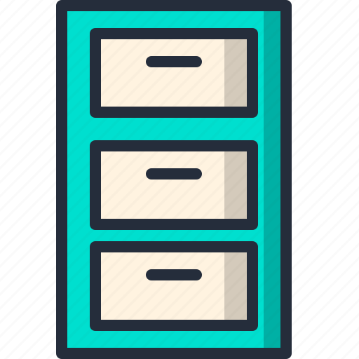 archive, cabinet, document, drawer, file, storage icon