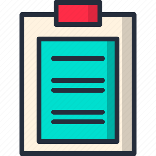 clipboard, document, paper, sheet, text icon