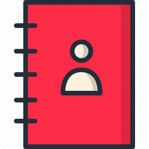 Agenda, book, contacts, copyboard, notepad, phone number, user icon - Download on Iconfinder