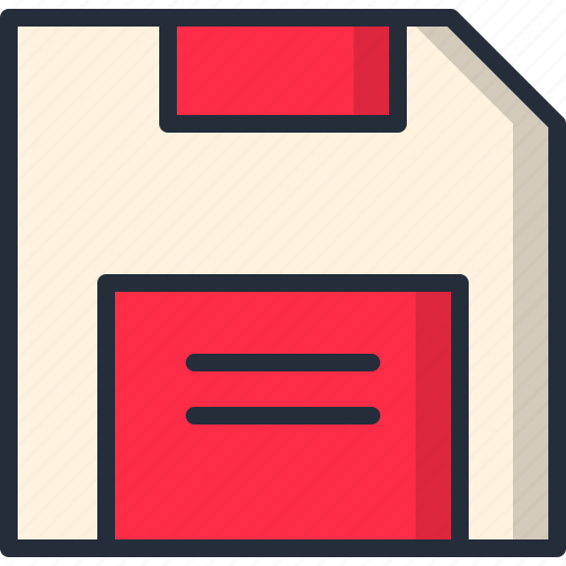 disk, diskette, storage icon