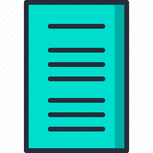 document, file, paper, sheet, word, write icon