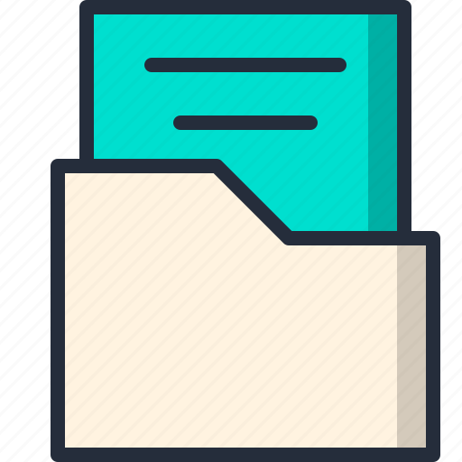 document, file, folder, opened, paper, sheet icon
