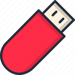 device, electronic, pendrive, storage, usb icon