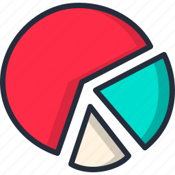 chart, graph, pie, pizza, profit, share icon