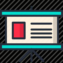 data, exhibition, power point, presentation, slide icon