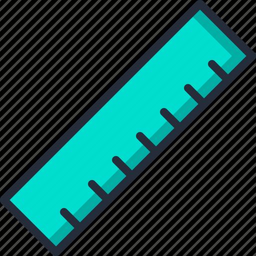 centimeter, measure, milimeter, ruler, size icon