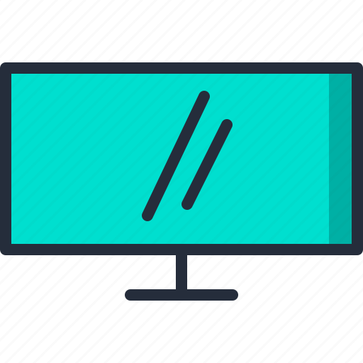 lcd, monitor, resolution, screen, television, widescreen icon
