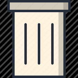 can, garbage, metal, trash icon