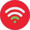 circle, general, internet, network, signal, wifi, wireless icon