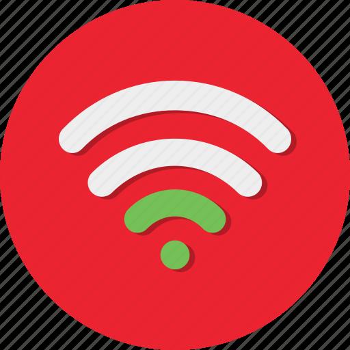 circle, general, internet, network, signal, wifi, wireless icon