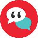 bubble, chat, comment, communication, conversation, discussion icon