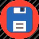 disk, document, file, floppy, floppy disk, save, storage icon