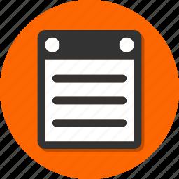 board, memo, order, paper icon
