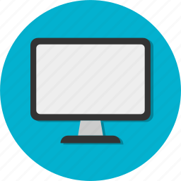 circle, general, monitor, screen icon