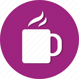 circle, cup, drink, general, hot, water icon