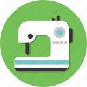circle, cloth, dress, general, machine, sewing icon