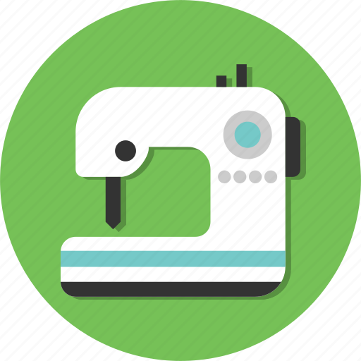 circle, cloth, dress, general, machine, sewing icon