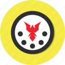 bird, circle, general, shield icon