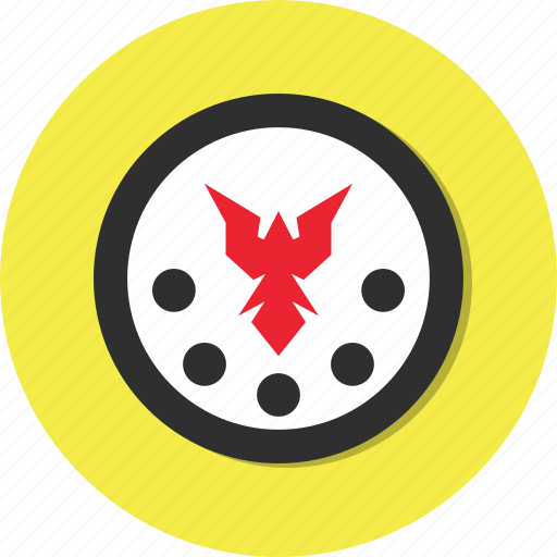 bird, circle, general, shield icon