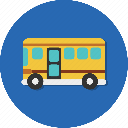 bus, carrier, school, student, transport, transportation, vehicle icon